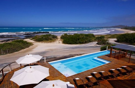 Luxury beachfront hotel in the Galapagos
